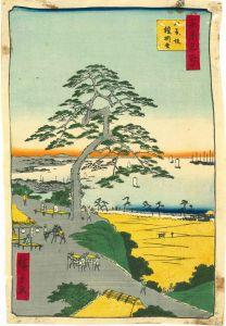 広重/東京名所 八景坂 鎧掛松 チリメン絵のサムネール