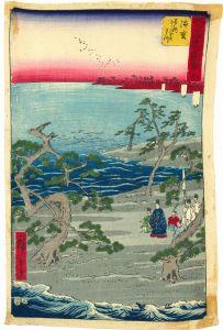 広重/五十三次名所図会 浜松 チリメン絵のサムネール