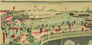 国政四代/東京名所繁栄之内 江戸橋之図のサムネール