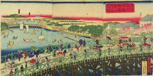 広重三代/東京名所両国橋之景のサムネール
