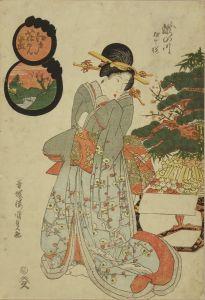 国貞/江戸花見尽 瀧の川 相生桜のサムネール