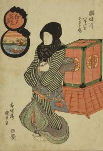 国貞/江戸花見尽 隅田川 八重一重あさき桜のサムネール