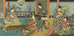 豊国三代/庭遊艸花の七文字のサムネール