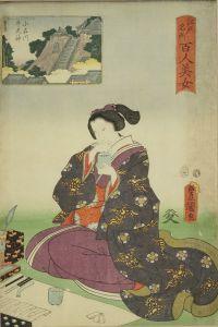 豊国三代/江戸名所百人美女 小石川 牛天神のサムネール