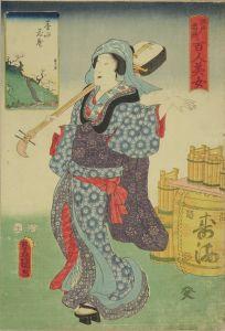 豊国三代/江戸名所百人美女 墨水花盛のサムネール