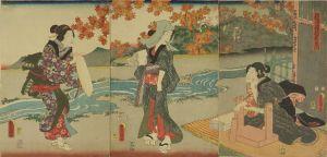 豊国三代/摂津国擣衣の玉川のサムネール