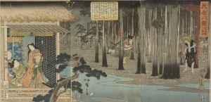広重/美盾八景 祇園林夜雨のサムネール
