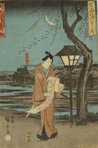 広重/古今浄瑠璃尽 ごん八夢の段のサムネール