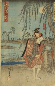 広重/古今浄瑠璃尽 桂川連理柵道行のサムネール