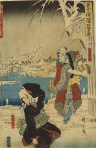 広重/古今浄瑠璃尽 忠臣講釈雪降の段のサムネール