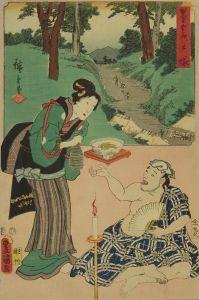 広重・豊国三代/双筆五十三次 戸塚のサムネール