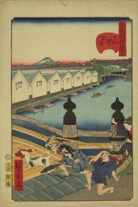 広景/江戸名所道外尽 一 日本橋の朝市のサムネール