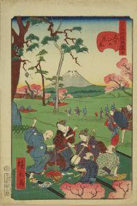 広景/江戸名所道戯尽 五 飛鳥山の花見のサムネール