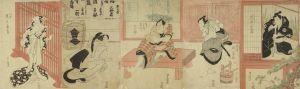 豊国/白井権八 幡随院長兵衛 小紫のサムネール