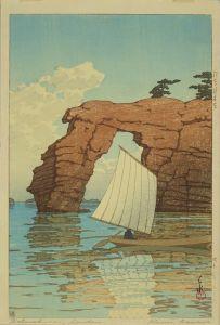 川瀬巴水/松島材木島のサムネール