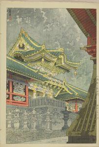 笠松紫浪/小雨降る陽明門のサムネール