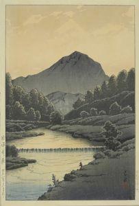 川瀬巴水/飛騨釜ヶ嶽のサムネール