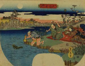 貞秀/五節句之内 九月 月まち 団扇絵のサムネール