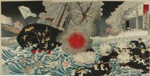 無款/日本海軍大勝利旅順港大激戦之図のサムネール