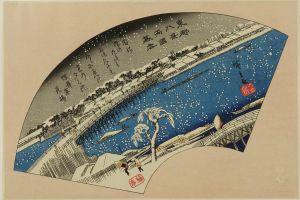 広重/東都八景 手刷複製木版画 8枚揃 アダチ版画研究所 昭和46年 (1971) 原寸 台紙付 帙入のサムネール