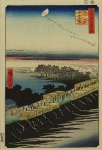 広重/名所江戸百景 よし原日本堤のサムネール