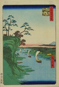 広重/名所江戸百景 鴻の台とね川風景のサムネール