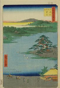 広重/名所江戸百景 千束の池袈裟掛の松のサムネール