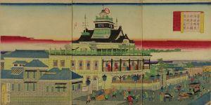 国輝/東京府下海運橋兜町 第壱国立銀行五階造真図のサムネール