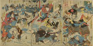 国芳/赤坂の宿にて牛若丸斬強盗のサムネール