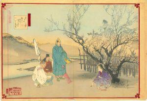 月耕/浮世絵十二ヶ月 二月 鶯宿梅のサムネール
